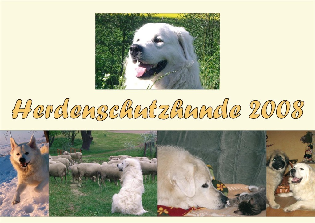 Herdenschutz Hunde Kalender 2008 - Fotos und Informationen zu Herdenschutzhunden